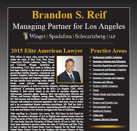 Brandon S Reif Worldwide Member Newsletters